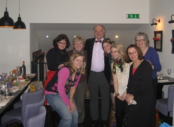 Virginia with the staff of the Jane Austen Centre (2008)