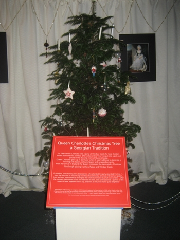 The first Christams tree exhibit at the Jane Austen Centre