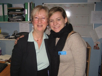 Virginia Claire Tharrington and Jackie Herring, Director of the Jane Austen Centre (2008)