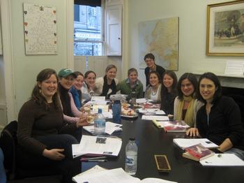 Virginia Claire Tharrington and her Jane Austen classmates (2008)