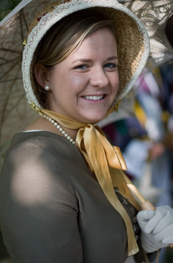 Virginia Claire Tharrington at the Jane Austen Festival (2008)