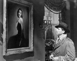 Dana Andrews gazes at the portrait of Gene Tierney as Laura (1944)