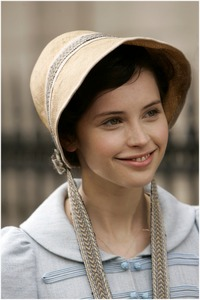 Felicity Jones as Catherine Morland, Northanger Abbey (2007)