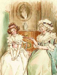 Closeup of an Illustration by C.E. Brock, Sense and Sensibility, J.M. Dent & Sons, London (1908)