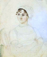 Portrait of Jane Austen by Cassandra ca 1810