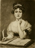 Portrait of Jane Austen by Y.H., (1909)
