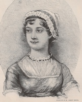 Engraving of Jane Austen by M. Lamont Brown (1893)