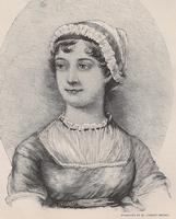 Engraving of Jane Austen by M. Lamont Brown (1893)