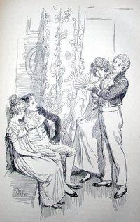 Illustration by Hugh Thomson, Mansfield Park, Macmillion & Co, London (1897)