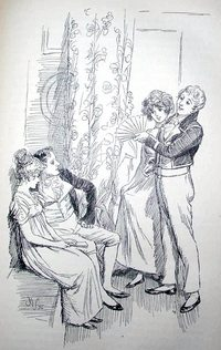 Illustration By Hugh Thomson Mansfield Park Macmillion Co London 1897