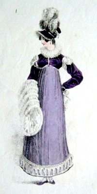 Illustration from Ackermann's Repository, a Walking Dress (1817)