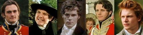 The bachelors of Pride and Prejudice