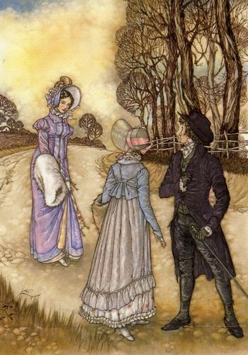 Illustration by Niroot Puttapipat, Emma, The Folio Society (2007)