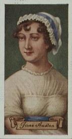 Jane Austen cigarette card, Carreras Tobacco (1935)