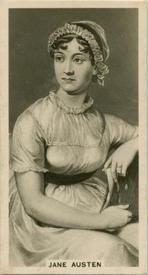 Jane Austen cigarette card, Carreras Tobacco (1929)