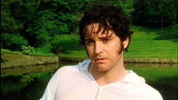 Mr. Darcy does the dip, Pride and Prejudice (1995)