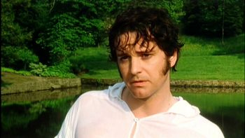 Mr. Darcy does the dip, Pride and Prejudice (1995)
