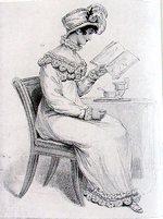Illustration of a morning dress from La Belle Assemblee (1813)