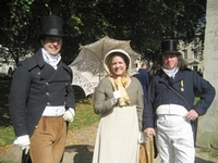 Virginia Claire and two Regency Bucks, the Jane Austen Festival (2008)