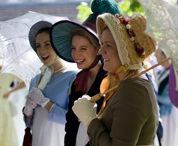 Virginia Claire and her friends at the Jane Austen Festival (2008)