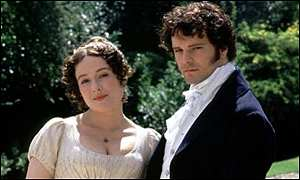 Jennifer Ehle and Colin Firth in Pride and Prejudice (1995)