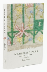 Needlepoint book cover of Mansfield Park by Leigh-Anne Mullock (2009)