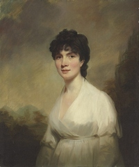 Portrait of Mrs. Walter Learmouth, by Sir Henry Raeburn (ca 1800)