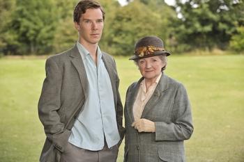 Benedict Cumberbatch and Julia McKenzie in Miss Marple - Murder in Easy (2009)