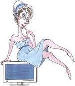 Illustration of Jane Austen, by Gerald Scarfe (2008)