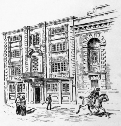 The old General Post Office in Lombard Street, London