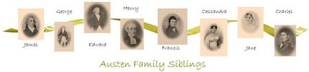 Jane Austen siblings banner