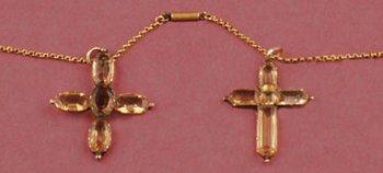 Jane and Cassandra Austen's topaze crosses