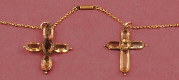 Jane and Cassandra Austen's topaze crosses