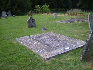 Grave stone of James and Mary Austen in St. Nicholas churchyard, Steventon