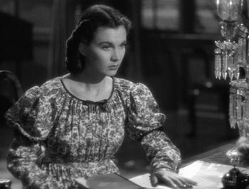 Vivien Leigh as Emma, Lady Hailton in non-Regency attire
