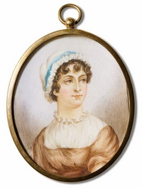 Miniature portrait of Jane Austen (ca 19th-century)