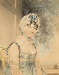 Portrait of Miss Maria Edgeworth, by John Downman (1807)