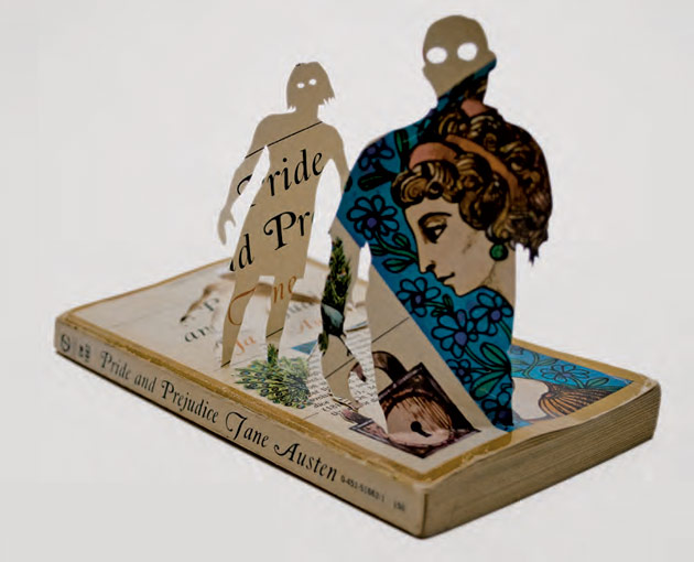 Pride and Prejudice book cover zombieized, by Thomas Allen