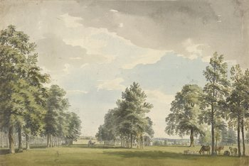 A view of a park, by Paul Sandby (ca 18th-century)