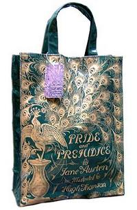 Pride and Prejudice Peacock Shopper