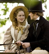 Image from Cranford: Kimberley Nixon as Sophie Hutton and Simon Woods as Dr. Harrison© BBC Worldwide 2007 for MASTERPIECE