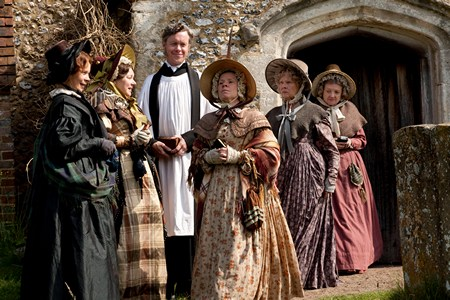 Image from Return to Cranford: Cranford ladies leaving church © BBC Worldwide 2010 for MASTERPIECE