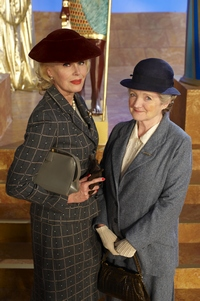 Image from Miss Marple: The Mirror Crack'd: Joanna Lumley and Julia McKenzie © 2010 MASTERPIECE