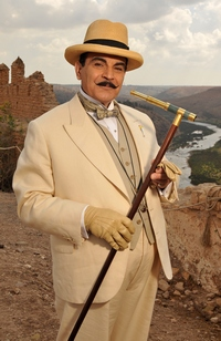 Image from Poirot: Appointment with Death: David Suchet in Hercule Poirot © 2010 MASTERPIECE