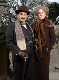 Image from Poirot: Third Girl: David Suchet and Zoë Wanamaker © 2008 MASTERPIECE