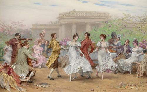 The Minuet, by Frederick Hendrik Kaemmerer (1890)