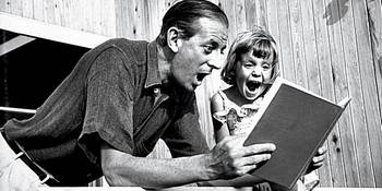 Alistair Cooke and his daughter