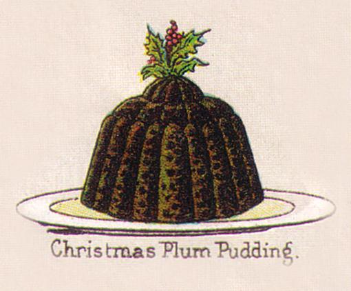 Mrs. Beeton's Traditional Christmas Plum Pudding circa 1890s