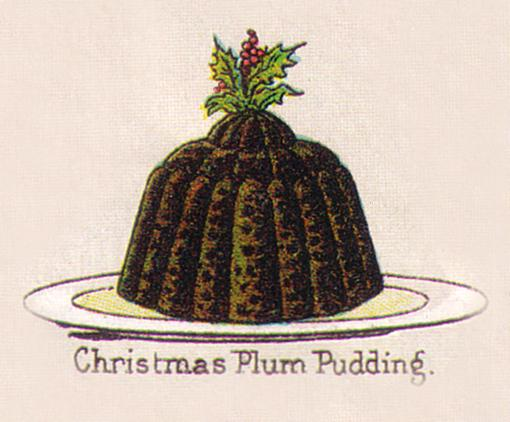 Mrs. Beeton's Traditional Christmas Plum Pudding circa 1890s