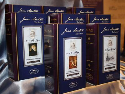 Bingley's Teas, Ltd. Jane Austen Tea Series packaging